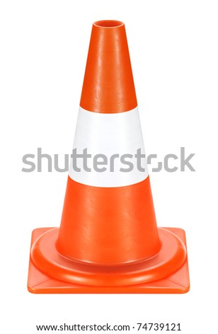 Conspicuous color warning road sign. Detour, road work, accident, etc. used.