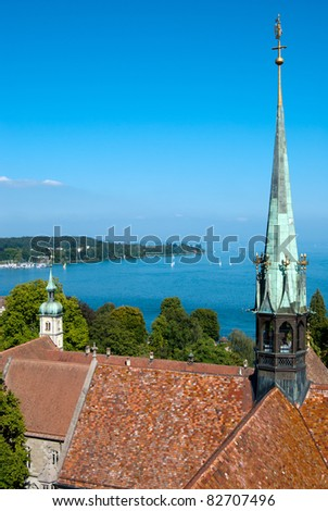 Constance church tower and boden lake germany for Boden germany