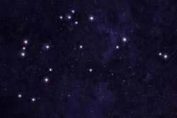 Constellation Aquarius. Against the background of the night sky. Elements of this image were furnished by NASA.
