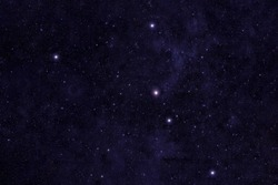 Constellation cancer. Against the background of the night sky. Elements of this image were furnished by NASA.