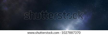 Constellation Stars in the Universe Galaxy Background