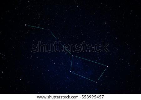 Constellations. Ursa Major (Great bear)