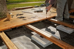 Constructing a Wooden Flooring of a Terrace
