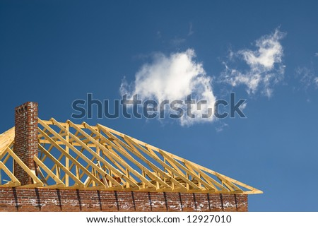 constructing of the roof on the sky
