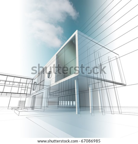 Construction architecture. Building concept