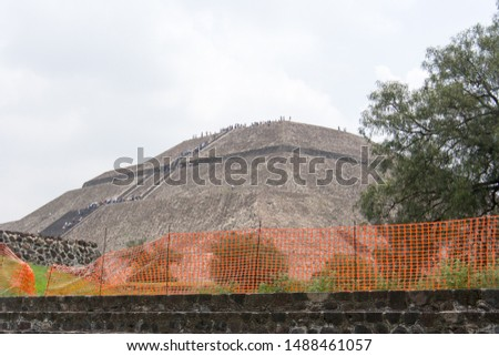 Construction at Archeological Site of the Pyramid of the Sun and Pyramid of the Moon, Teotihuacán, State of Mexico, Mexico