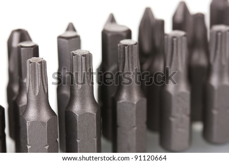 Construction bits isolated on white