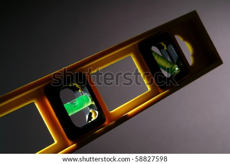 Construction bubble spirit level with glass vial