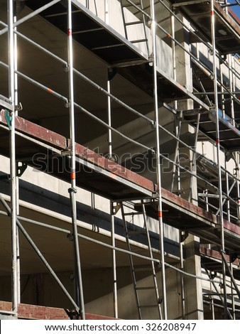construction building site build scaffold working structure