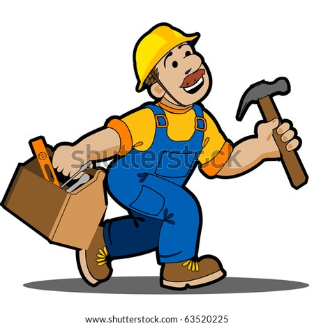 Construction,Carpenter Cartoon