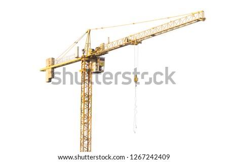 Construction Crane isolated on white background