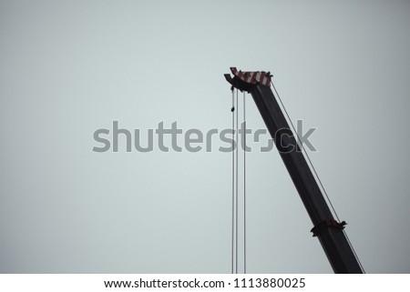 construction crane lifting...