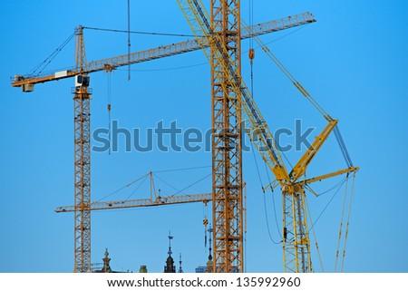 Construction cranes #135992960