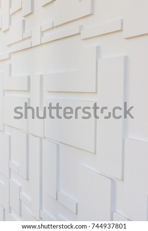Construction details : Multi-levels wall for external decoration. It is hand-made by rendering method #744937801