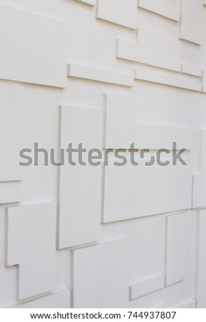 Construction details : Multi-levels wall for external decoration. It is hand-made by rendering method #744937807