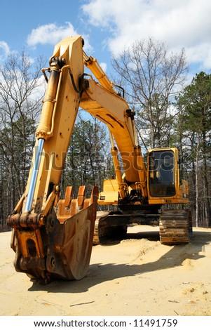 construction equipment backhoe