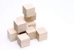construction from wooden cubes