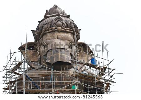 Construction,Ganesh hindu god in Thai temple