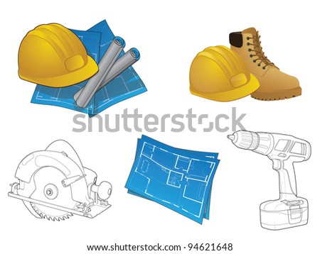 Construction Icon Collection/Various home builder elements