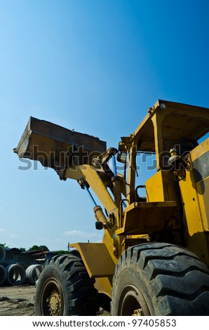 construction machinery  on blue sky
