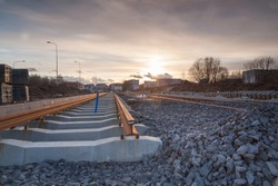 construction of a modern railway