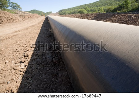 Construction of a new oil pipeline.