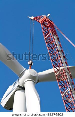 Construction of a wind turbine