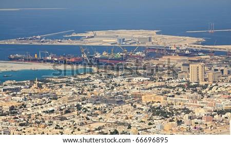Construction of artificial islands. Dubai. UAE.