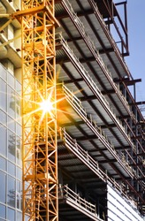 construction of big modern building