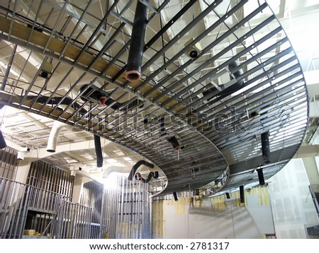 Construction Of Interior Of Commercial Building With Metal Framing Stock Photo 2781317
