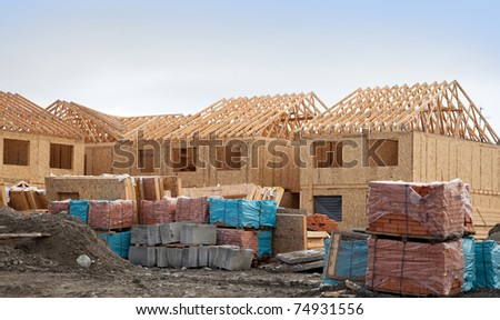 Construction of new homes during construction of the frame