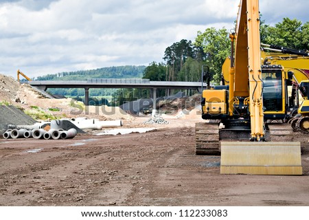 Construction of new motorway in Germany
