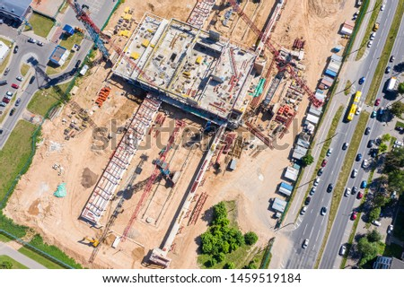 construction of new urban area. aerial top view. building under construction #1459519184