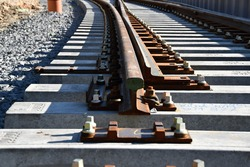 Construction of railway tracks, railway turnout, detail