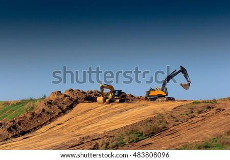Construction Of Roads Zdjęcia stock ©