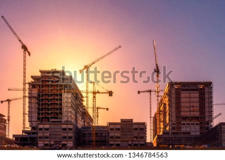 Construction of the city hospital. basaksehir - istanbul Stok fotoğraf ©