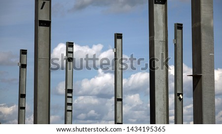 Construction of the plant from metal structures .