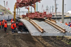 Construction of the railway.