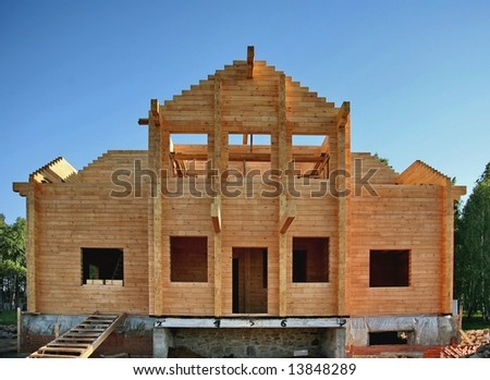 Construction of the wooden house