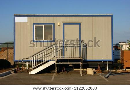 Construction office trailer stock photo