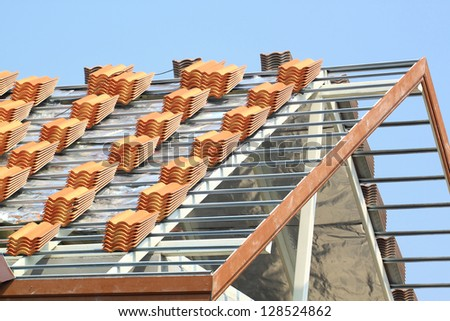 Construction on roof