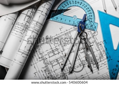 Free blueprint cad architectural plan drawing white on black construction planning drawings on black background 540600604 malvernweather Gallery