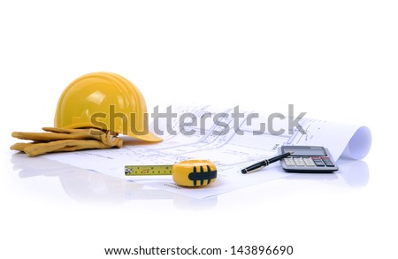 construction plans and equipment ready to build