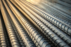 Construction rebar steel work reinforcement in conncrete structure of building