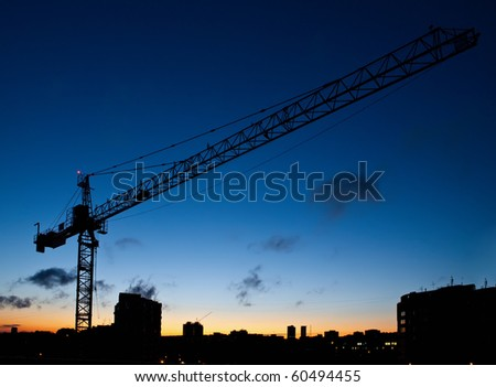 construction site at early morning