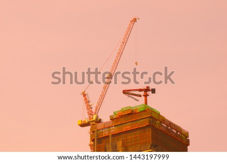 construction site.construction site with crane.