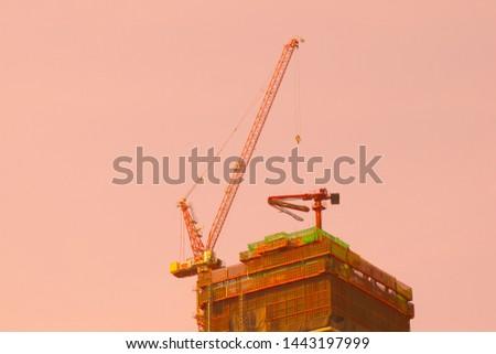 construction site.construction site with crane. #1443197999
