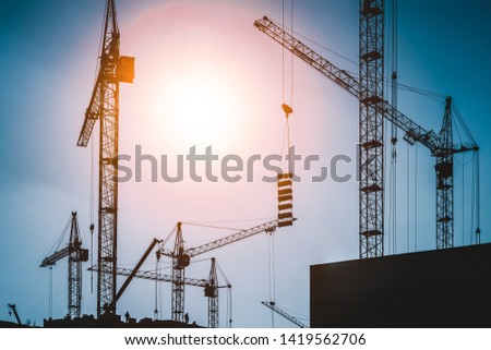 construction site. crane working.