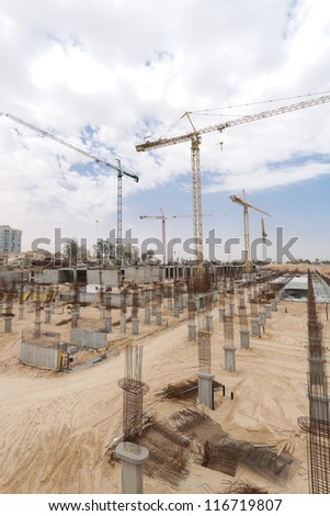 Construction site in the centre of Beer-sheva.
