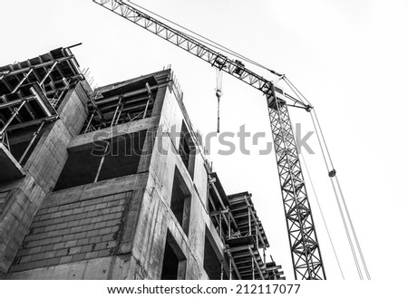 Construction site isolated on white